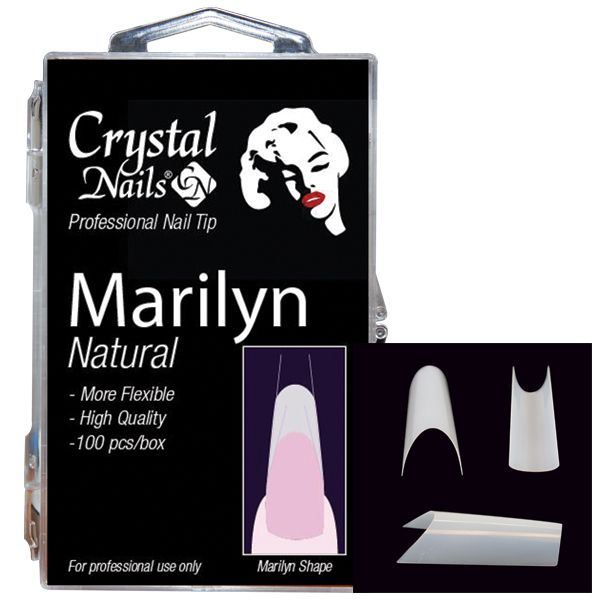 Marilyn Natural Tip Box - Crystal Nails UK