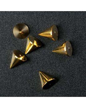 Nail Decor Cone (Gold)