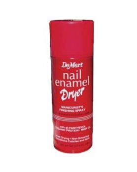 Nail enamel dryer spray